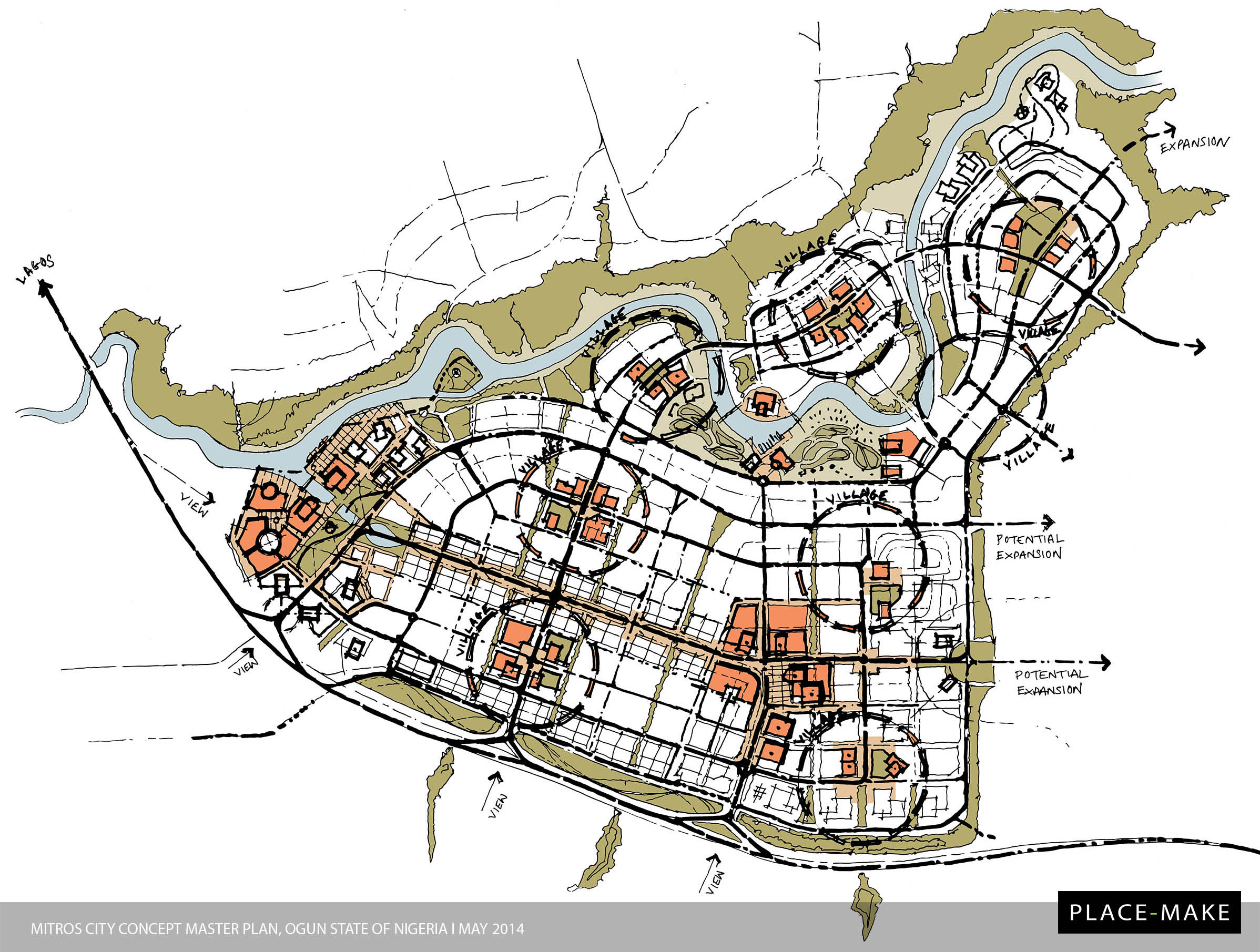 Mitros city concept master plan presentation for Concept design and planning